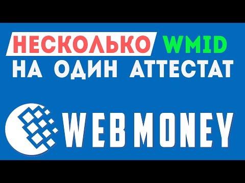 Как привязать дополнительные WMID-ВМИД К ОДНОМУ АТТЕСТАТУ аккаунту WEBMANY-ВЕБМАНИ