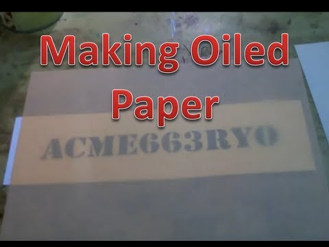 Making Oiled Paper