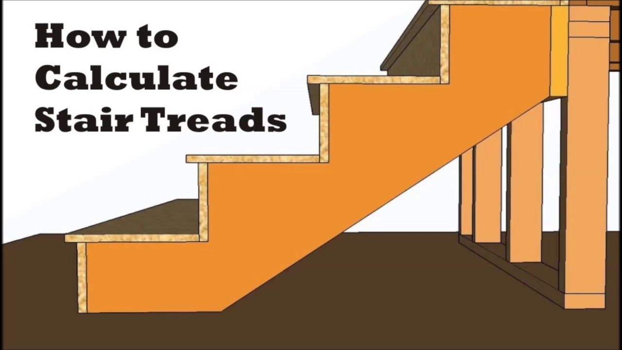 How To Calculate Stair Treads Rise And Run Stringer Layout You