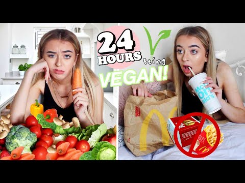 I only ate VEGAN food for 24 hours!!