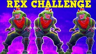 'REX SKIN' CHALLENGE (VERY HARD!) | Fortnite Battle Royale!