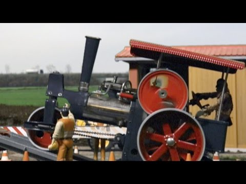 BRUDER TOY Truck + WILESCO Steam Roller Old Smokey ROLLING ...