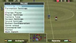Winning Eleven 9 (PES 5) Gameplay (2011 Rosters)