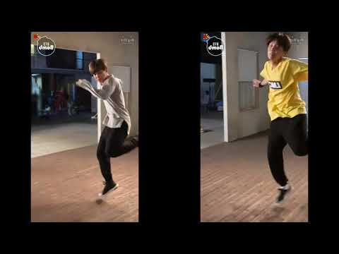 BTS J-hope & Jimin Highlight Reel dance Split Screen [MIRROR]