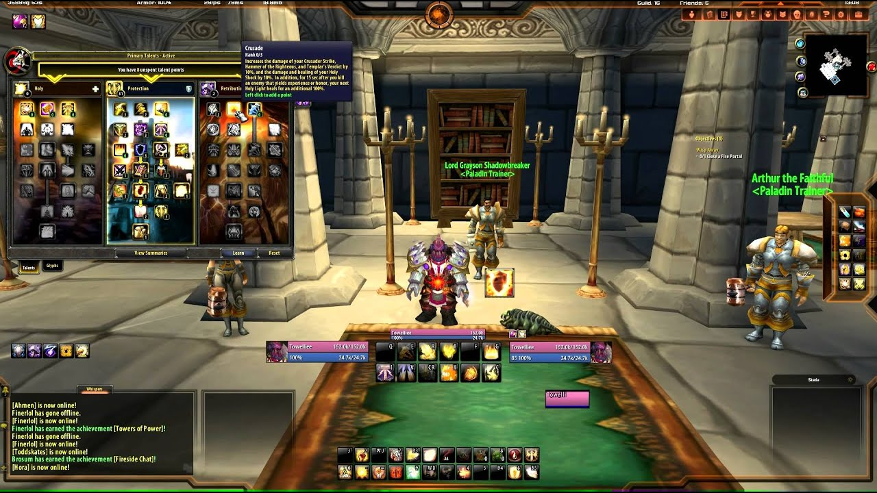 WoW Paladin - Protection Paladin Tutorial - Talents and Spec - Towelliee + TGN - YouTube
