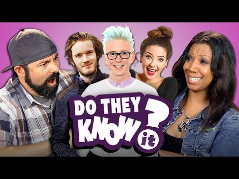 DO PARENTS KNOW YOUTUBE STARS? (REACT: Do They Know It?)