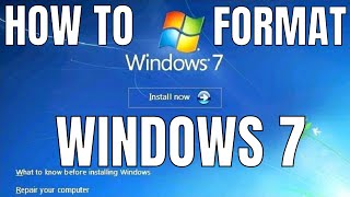 Windows 7 Formatting and Clean Installation