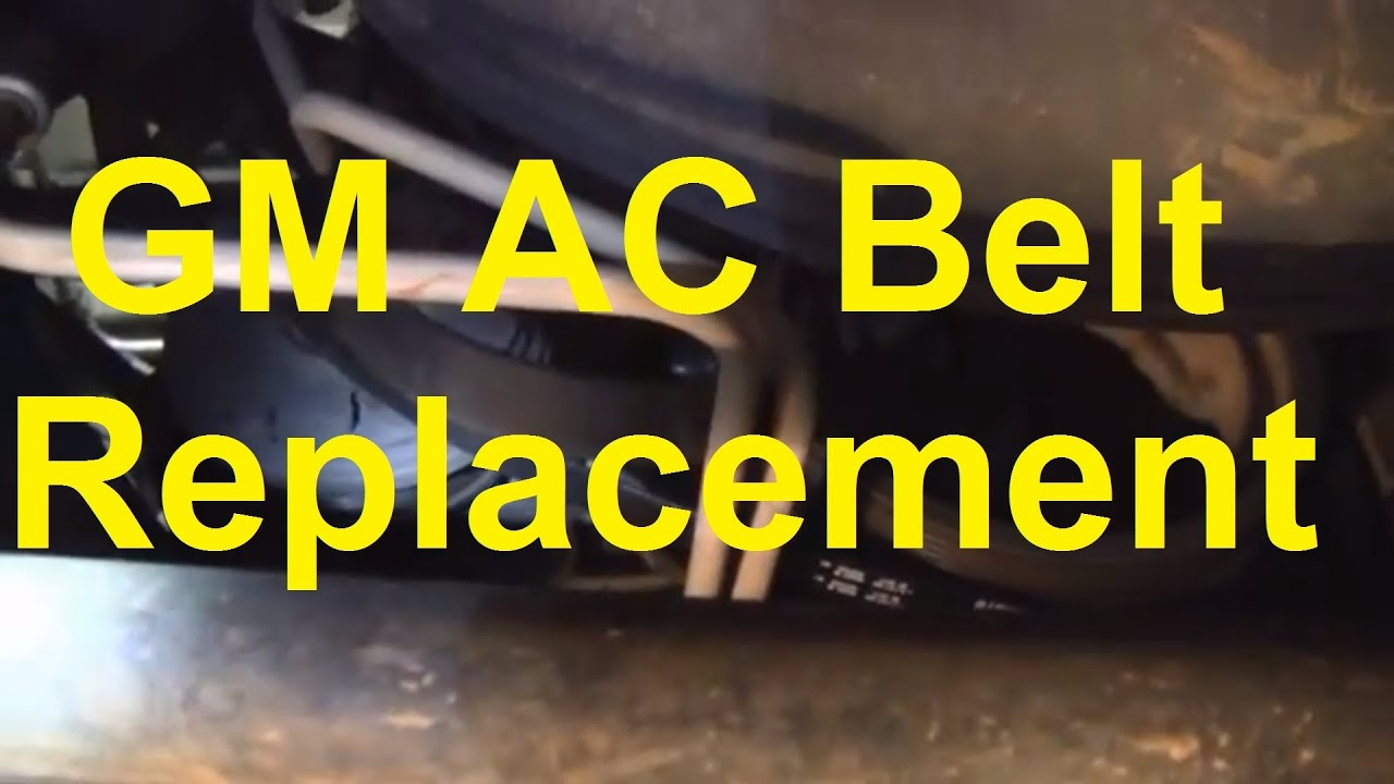 how to replace the ac belt on a silverado sierra tahoe suburban yukon etc youtube [ 1920 x 1080 Pixel ]