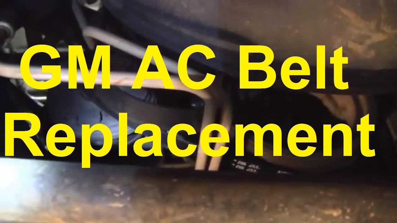How To Replace The Ac Belt On A Silverado Sierra Tahoe. How To Replace The Ac Belt On A Silverado Sierra Tahoe Suburban Yukon Etc Youtube. GM. Diagram 2001 GMC Yukon Xl Belts At Scoala.co