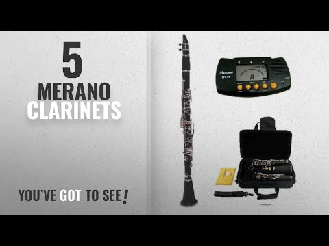 Top 10 Merano Clarinets [2018]: Merano B Flat Black / Silver Clarinet with Case+Mouth Piece+Reed and
