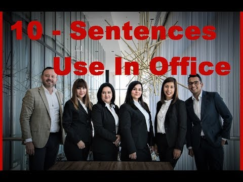 10- Official English SENTENCES use In OFFICE with HINDI Meaning