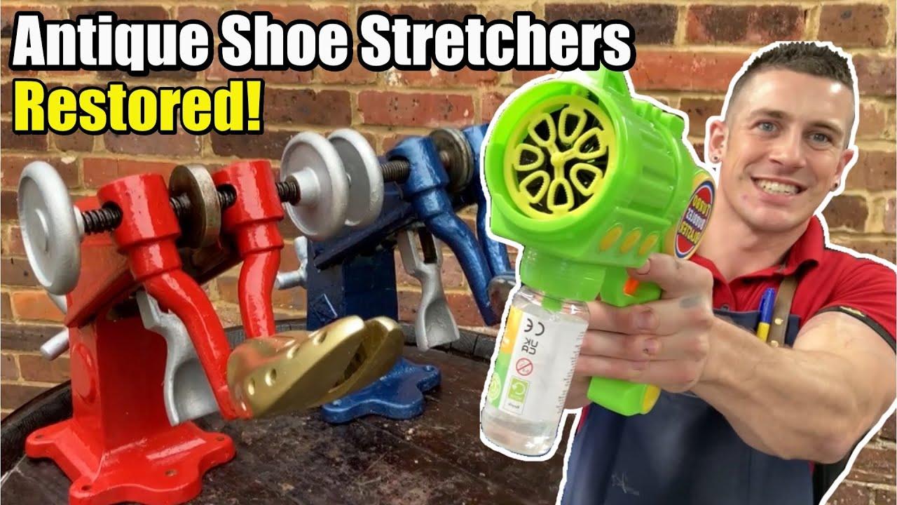 REVAMPING ANTIQUE SHOE STRETCHING MACHINE | Plus Super Bubble Blaster VS Guests!