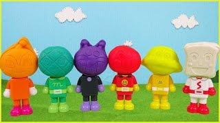 アンパンマン アニメ おもちゃ 粘土 パチッと変身アンパンマンとねんどあそび♪ Anpanman Toy PlayDoh Clay