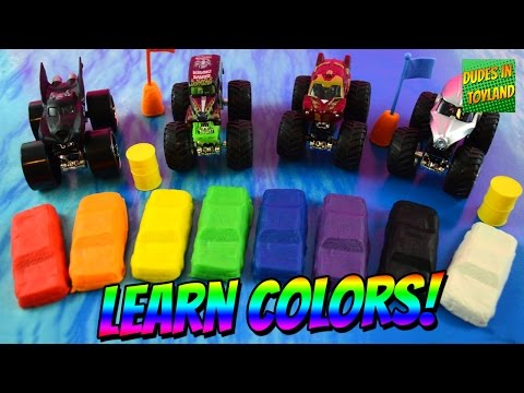Thumbnail: Learn colors with Monster Truck play doh