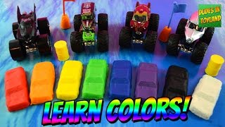 Learn colors with Monster Truck play doh