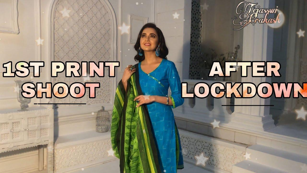 1st shoot after lockdown - Tejasswi Prakash
