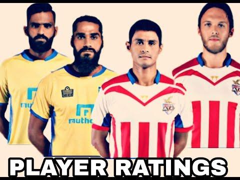 PLAYER RATINGS - Kerala Blasters FC vs ATK 0-0 || Match No 1|| ISL 2017