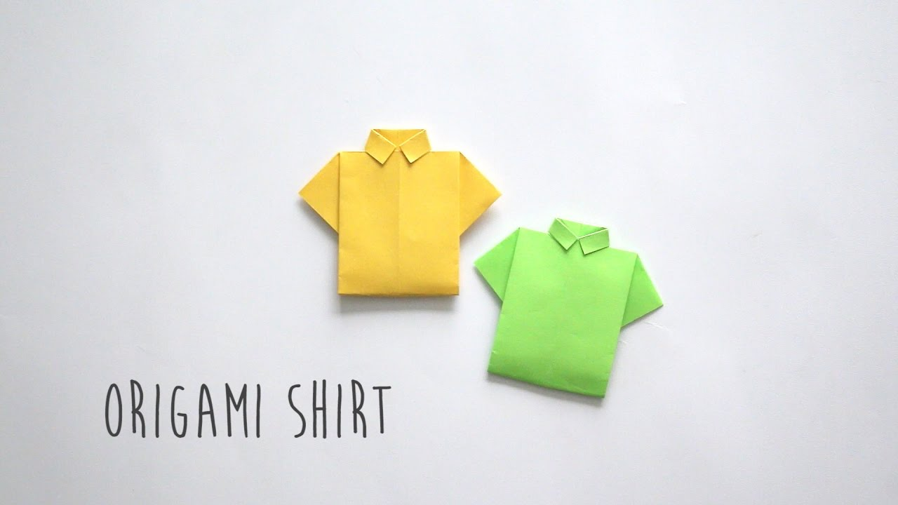 how to fold origami shirt youtube