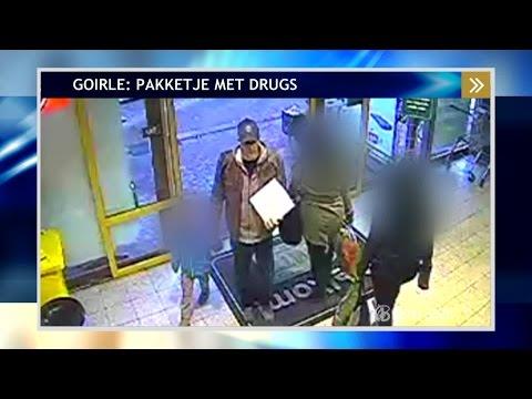 Beelden van de man die drugs wil versturen in Goirle