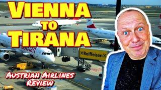 Austrian Airlines  Economy Class TRIP REPORT: Vienna to Tirana - RogVLOG45