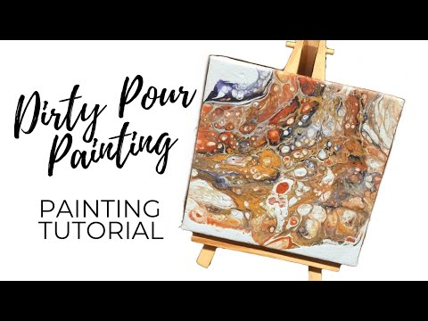How To Fluid Acrylic Dirty Pour Painting Tutorial (ABSTRACT LIZARD SKIN)