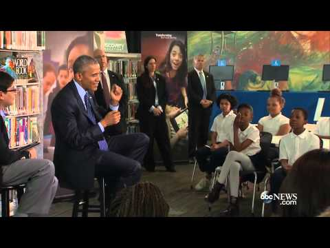 President Obama Answers Student Question, Talks Typewriters