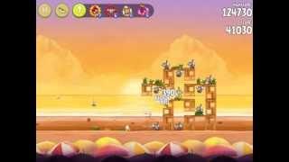Angry Birds Rio - Golden Beachball. Level 5. 3 stars. [HD]