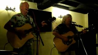 Chunder in the Old Pacific Sea (Barry McKenzie) live cover song by acoustic guitar duo Krab