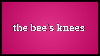 The bee's knees Meaning