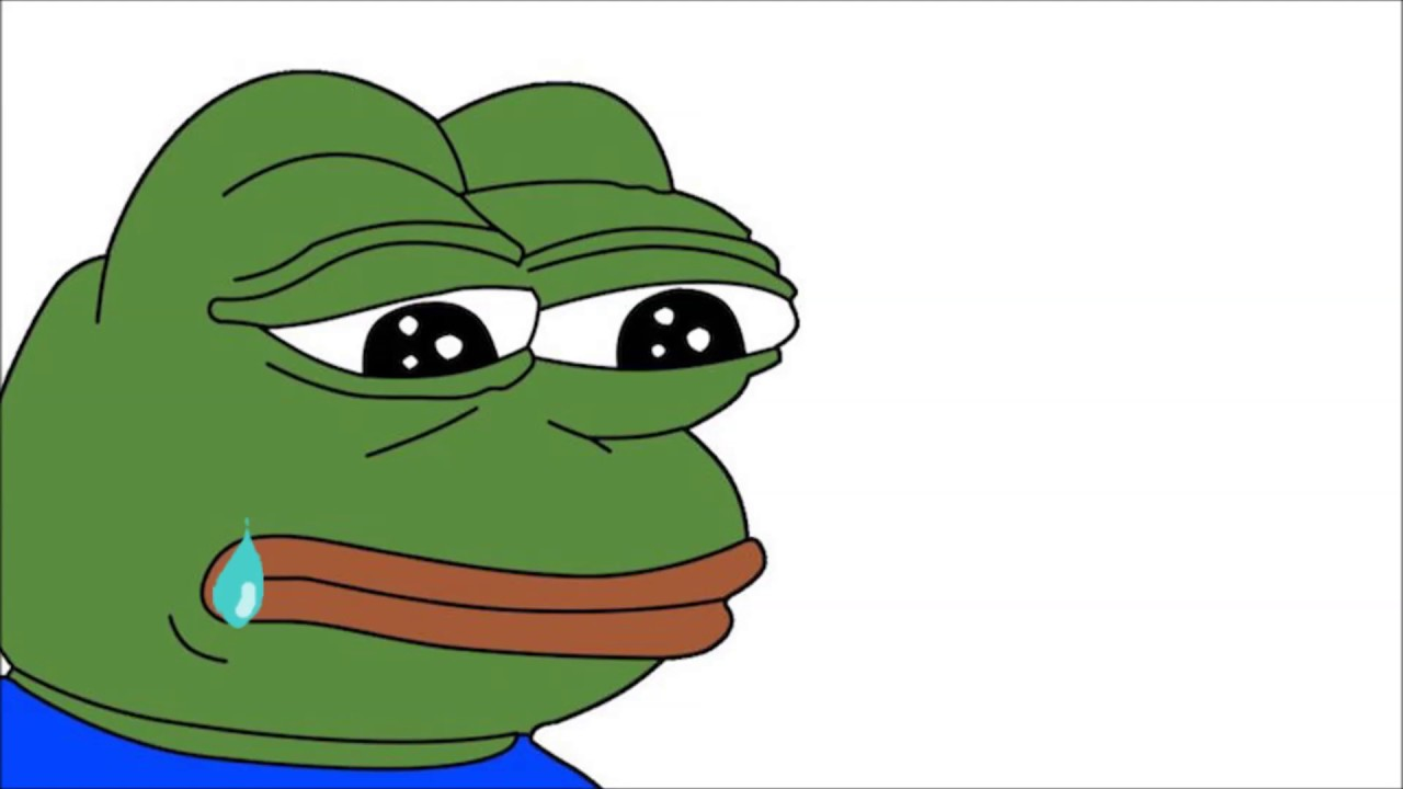 Pepe Crying Animation with Sad Music Playing