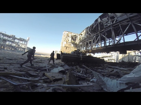 Battle of Donetsk Airport - Intense Combat Footage and Heavy