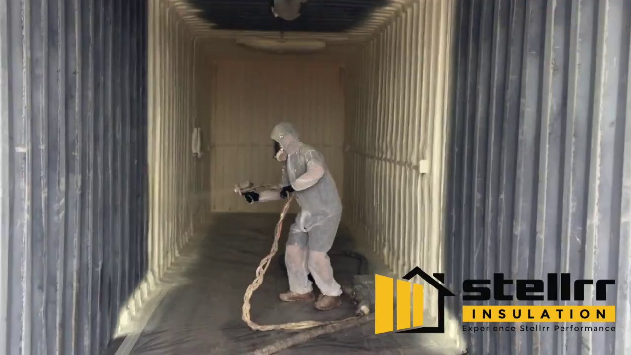 Stellrr Insulation Closed Cell Spray Foam Storage Container in
