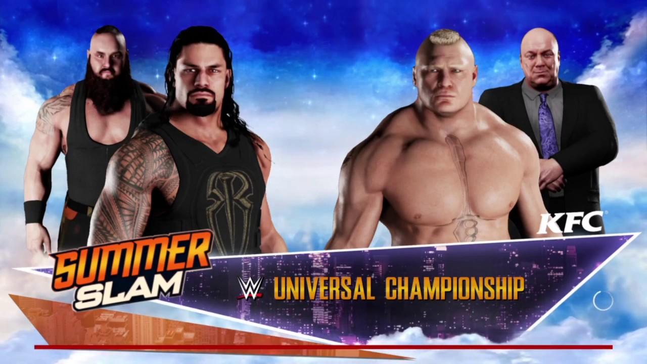 Bình Luận Game WWE 2k18: Roman Reigns Và Brock Lesnar [Chơi Game Đô Vật Mỹ]