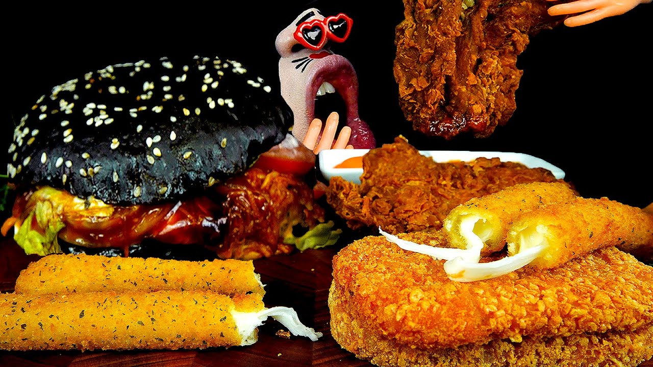 ASMR MUKBANG :) Burger King's Various Menu 🍔🍟🥤 EATING SHOW!