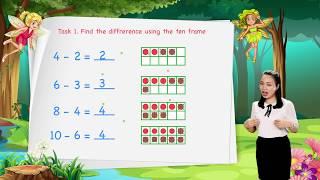 Math For Kids - Lesson 26. Subtraction Using the Ten Frame   Kindergarten