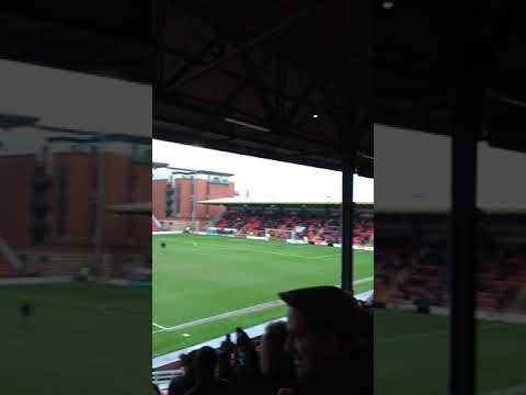 Tranmere Rovers fans singing TRFC at Leyton Orient, 10 Feb 2018