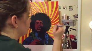 Jimi Hendrix Acrylic Painting Timelapse