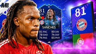 FIFA 19 UCL LIVE RENATO SANCHES REVIEW | 81 UCL LIVE SANCHES PLAYER REVIEW | FIFA 19 ULTIMATE TEAM