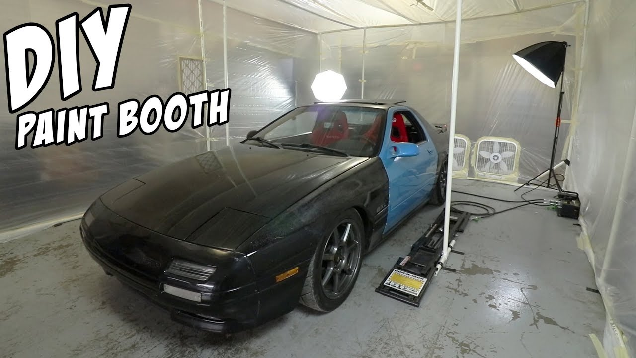 $200 DIY Paint Booth - YouTube