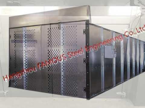 Explosion Proof Steel Framed Blast Door Industrial Garage Doors for  Governments and Banks