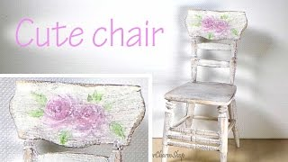 Miniature Furniture; Romantic Style Vintage Chair Tutorial