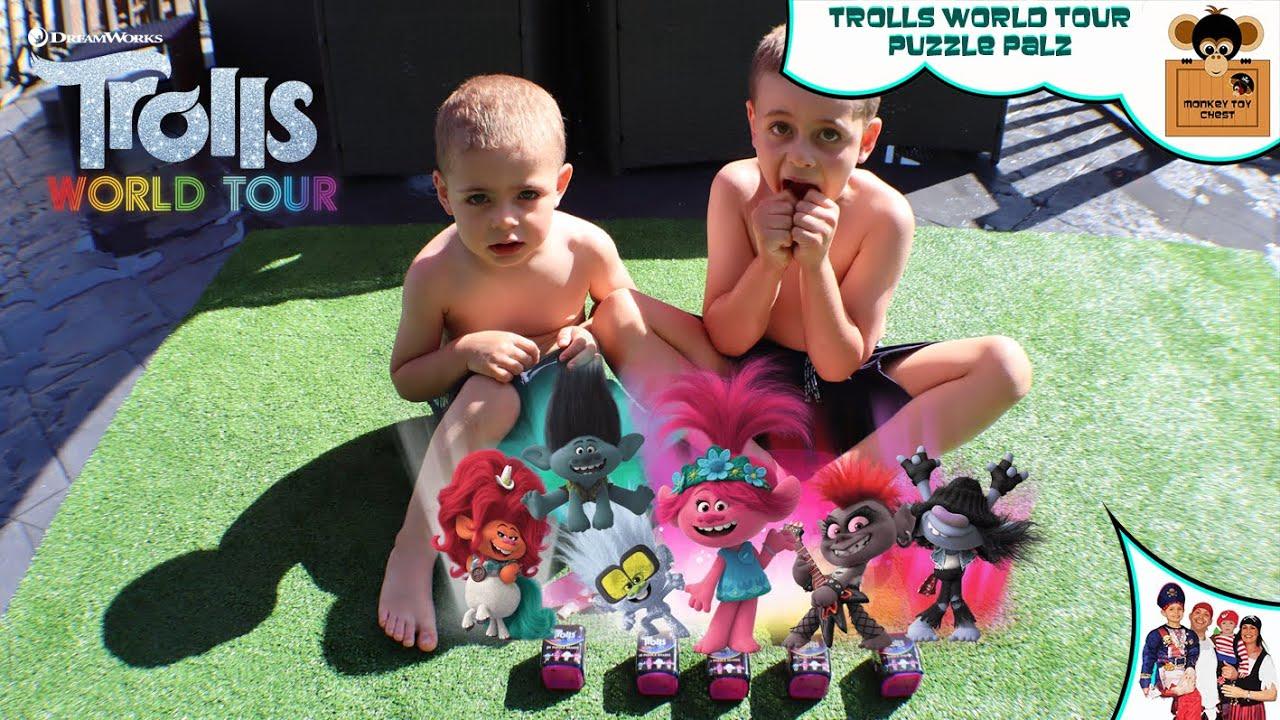 TROLLS WORLD TOUR PUZZLE PALZ GIANT BALLOON SURPRISE With Monkey Toy Chest
