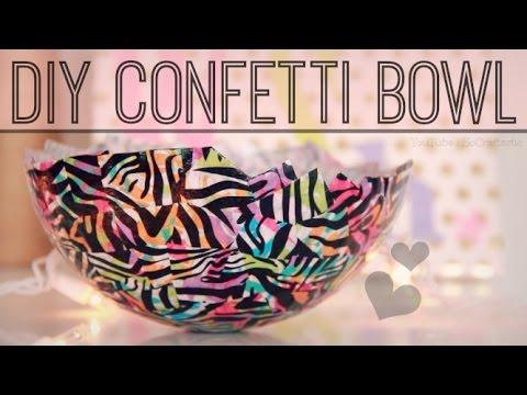 easy dy tssue paper art room decor socraftastc.htm diy confetti bowl papier   m  ch   with mod podge socraftastic  diy confetti bowl papier   m  ch   with