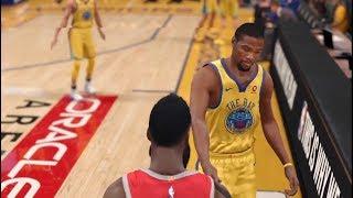 NBA Live 18 Rockets vs Warriors Gameplay!!!