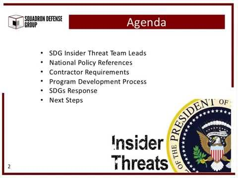 Insider Threat How to meet your National Security Obligation