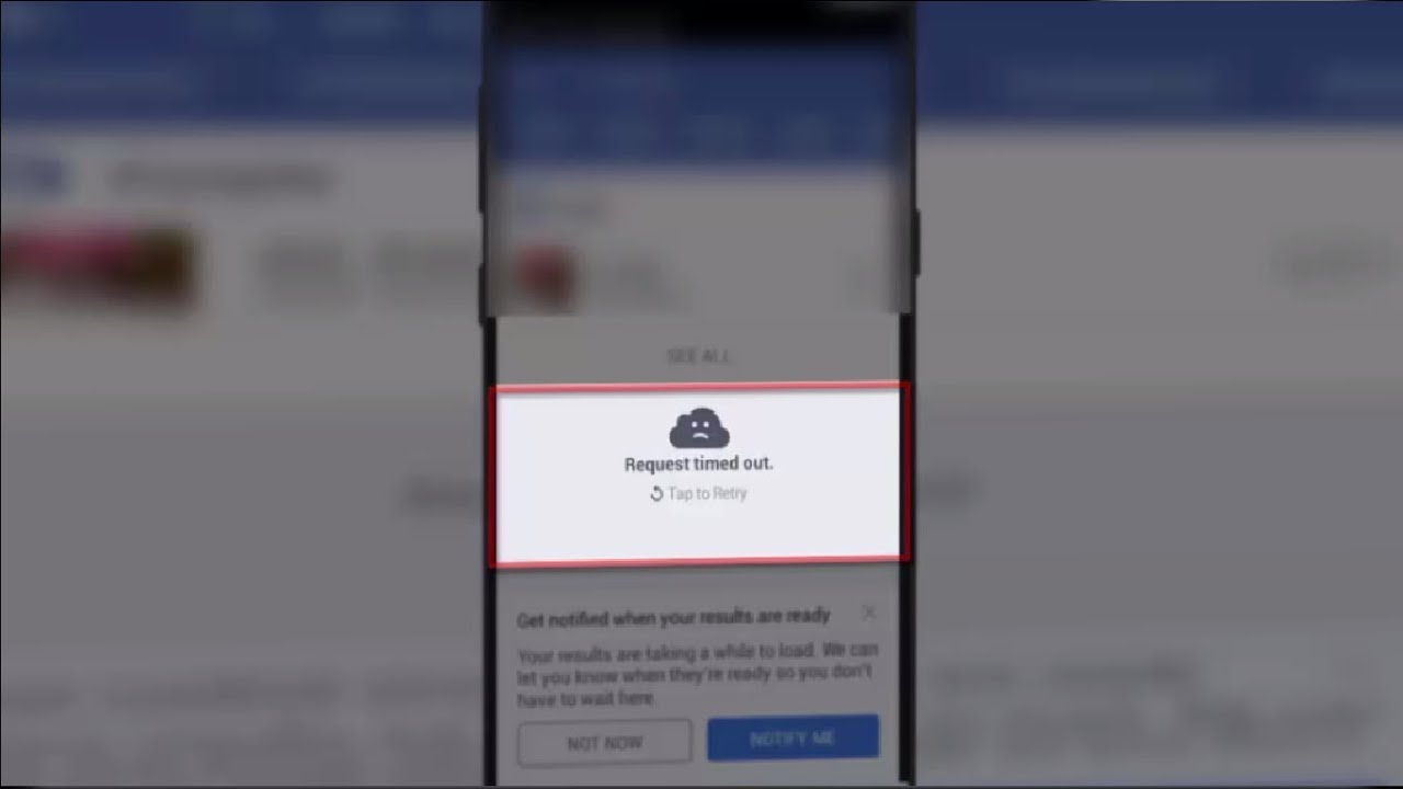 How to Fix Request Timeout Error of Facebook in Android