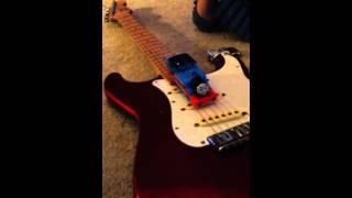 Alternative use of Dad's Fender Stratocaster.