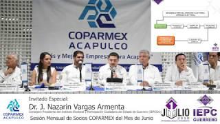 SESIÓN MENSUAL || JUNIO 2018 || INVITADO ESPECIAL: DR. J. NAZARÍN VARGAS ARMENTA