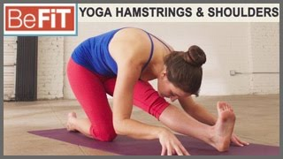 Yoga Workout for the Hamstrings & Shoulders: BeFiT Trainer Open House- Laurel Erilane