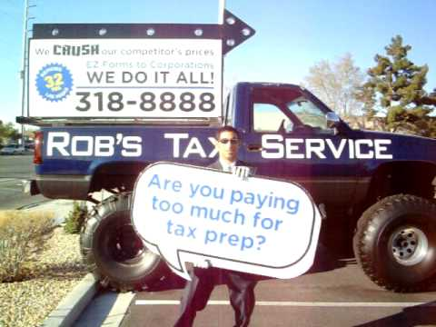 Rob S Tax Service Sign Spinner